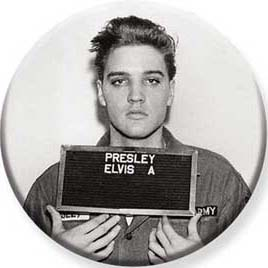 Elvis Presley- Enlistment Picture Pin (pinX500)