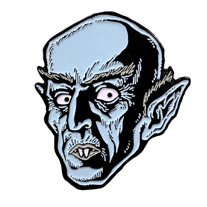 Blue Nosferatu Enamel Pin by Scumbags & Superstars (mp248)