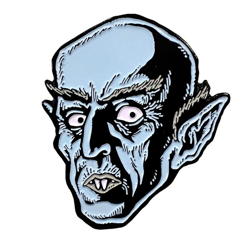 Blue Nosferatu Enamel Pin by Scumbags & Superstars (mp248)