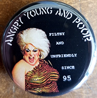 Angry Young And Poor- Filthy And Unfriendly Since 95 pin (pin-C233)