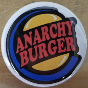 Anarchy Burger pin (pin-C28)