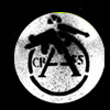 Crass- Cracked Gun (White) pin (pinX26)