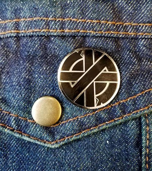 Crass- Symbol Enamel Pin