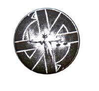 Crass- Lady Justice pin (pinX436)