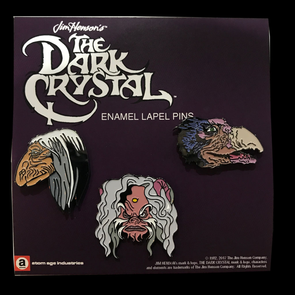 Dark Crystal- 3 Enamel Pin Set