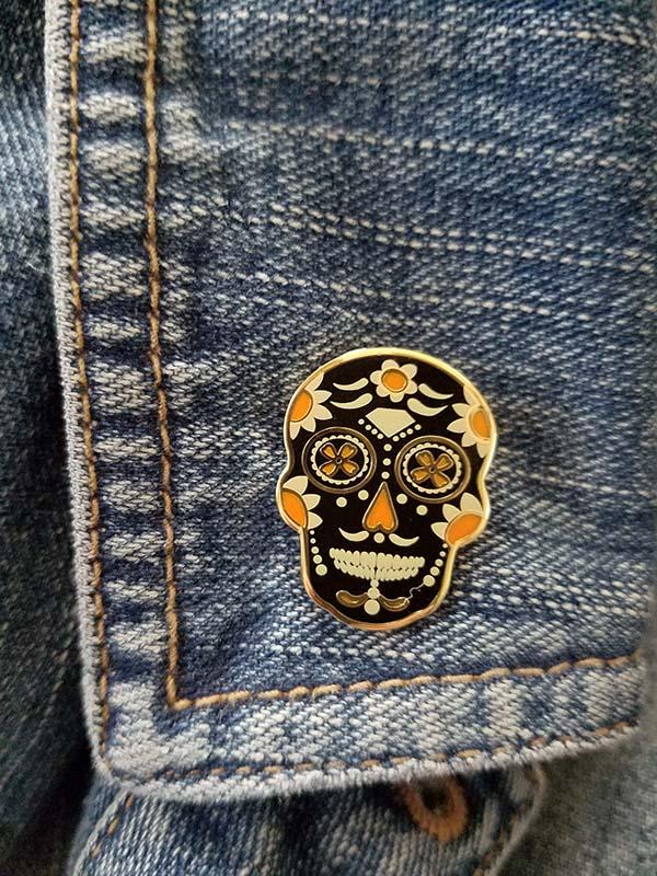 Dia De Los Muertos Sugar Skull Enamel Pin (MP150)