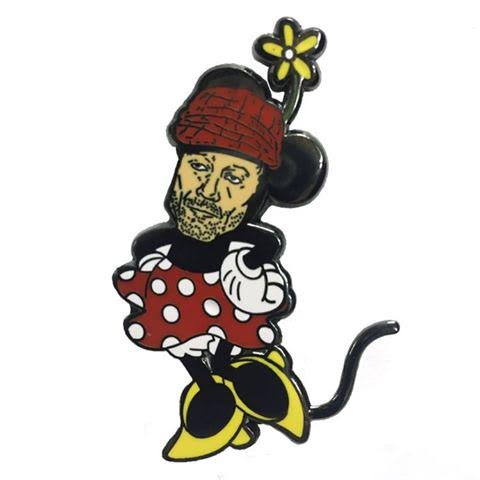 Ed Geinnie Mouse Tragic Kingdom Enamel Pin from Western Evil (MP79)