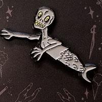 Feejee Mermaid Enamel Pin by Graveface (mp51)