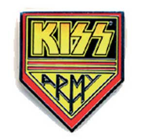Kiss- Army metal stick back pin (MP170)