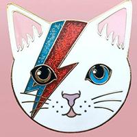 Dirty Lola Kitty Stardust Enamel Pin (MP294)
