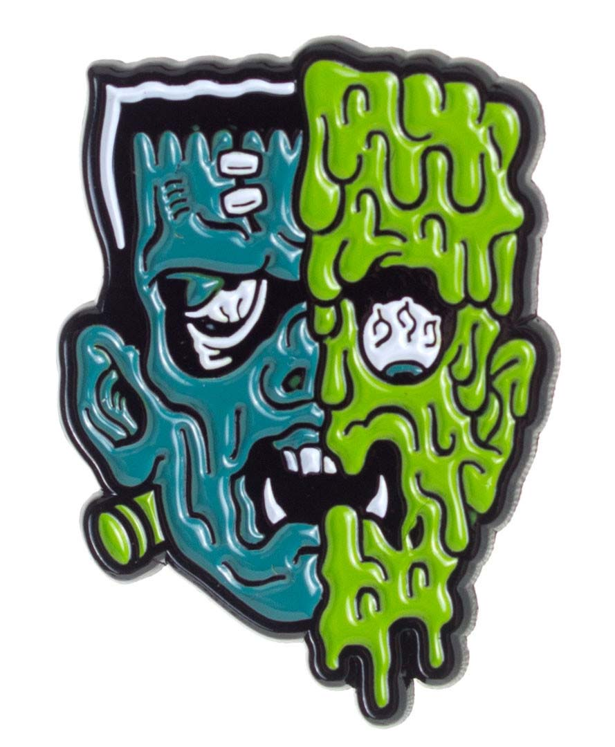 Terror Face Enamel Pin by Sourpuss/Kustom Kreeps (MP178) - SALE