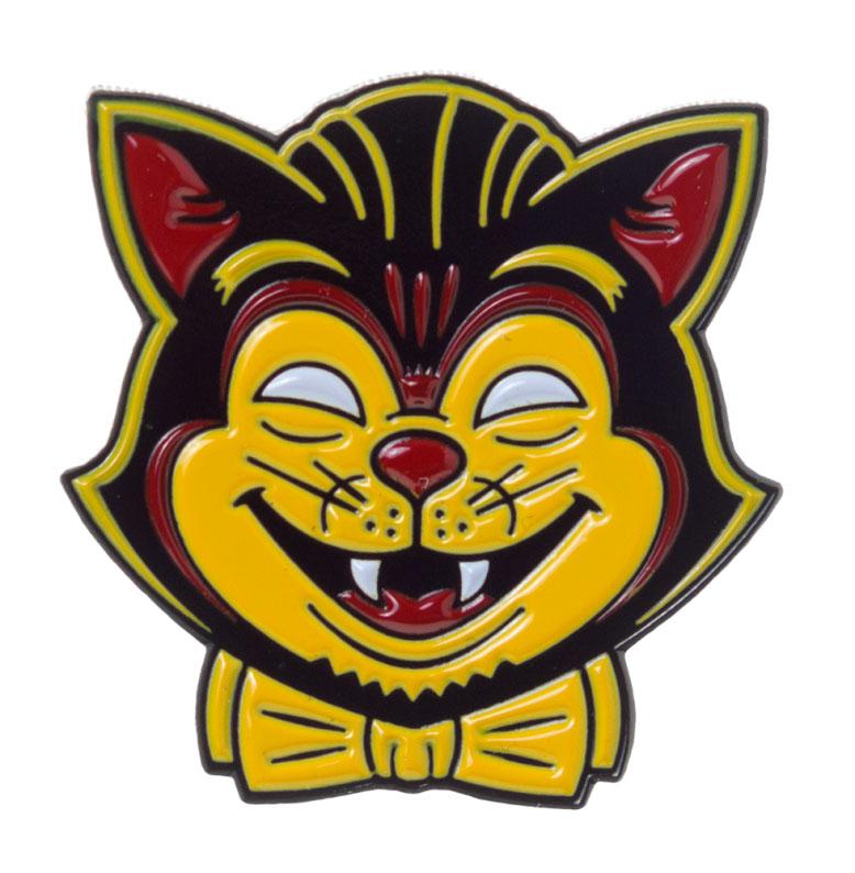 Creepy Cat Enamel Pin by Sourpuss/Kustom Kreeps (MP64)
