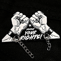 Know Your Rights Enamel Pin by Mood Poison - Black & White (MP288)
