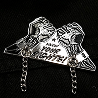 Know Your Rights Enamel Pin by Mood Poison - Black & Silver (MP289)
