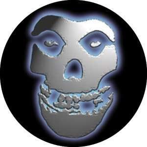 Misfits- Chrome Skull pin (pinX105)