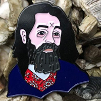 Charles Manson (Gacy Painting) Enamel Pin by Graveface (mp13)