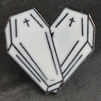 Coffins Enamel Pin (mp312)