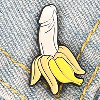 Banana Dick Enamel Pin (mp317)