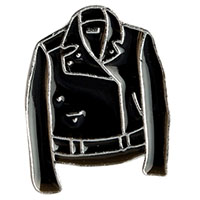 Biker Jacket Enamel Pin (mp31)