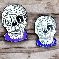 Gacy Sex Skull Enamel Pin by Graveface (mp326)