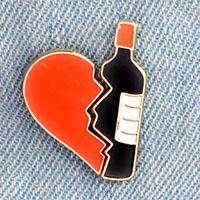 Broken Heart Bottle Enamel Pin Set (mp32)