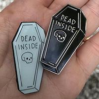 Dead Inside Enamel Pin by Graveface (mp32)