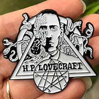 HP Lovecraft Enamel Pin by Graveface (mp331)