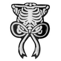 Skelebow Enamel Pin (mp334)