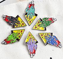 Zombie Hand & Pizza Enamel Pin (mp35)