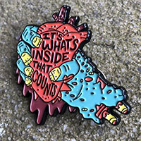 Zombie Hand It's What's Inside Enamel Pin by Graveface (mp427)