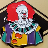 Pennywise (Gacy Painting) Enamel Pin by Graveface (mp50)