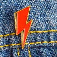 Bowie Bolt Enamel Pin (mp54)