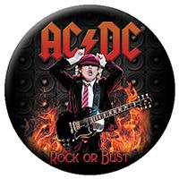 AC/DC- Angus Flames pin (pinX12)
