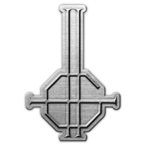 Ghost- Crucifix Symbol Enamel Pin (mp31)