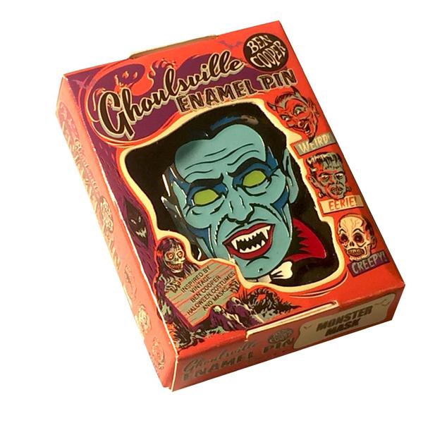 Blood Of Dracula Ghoulsville Enamel Pin by Retro-A-Go-Go (MP165)