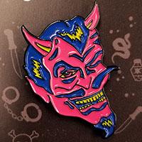 Ramirez Devil Enamel Pin by Graveface (mp310)