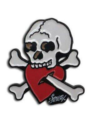 Skull Heart Crossed Up Enamel Pin by Sailor Jerry (MP219)
