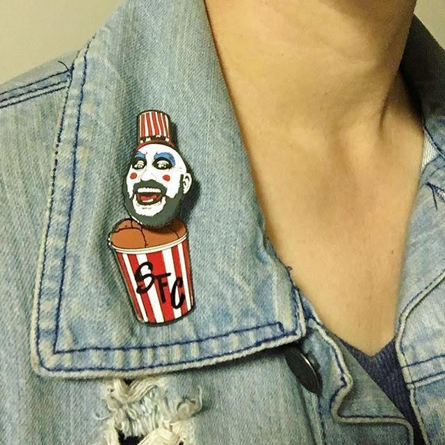 Captain Spaulding Bobble Head Enamel Pin from Western Evil (MP70)