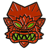Tiki Wolfman Enamel Pin by Sourpuss (mp376)