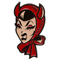Devil Girl Enamel Pin by Sourpuss (MP408)