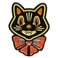 Halloween Cat Enamel Pin by Sourpuss (MP406)