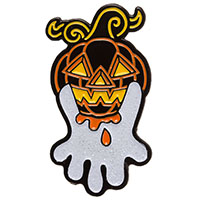 Pumpkin Ghost Enamel Pin by Sourpuss (MP404)