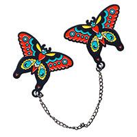 Butterfly Enamel Pin & Chain Set by Sourpuss (MP370)