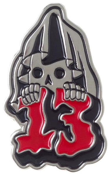 Enamel Grim Reaper Pin by Sourpuss (MP16)