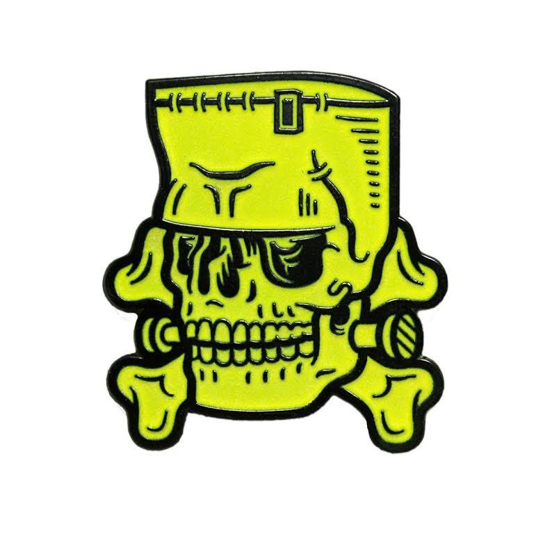 Enamel Monster Skull Pin by Sourpuss- Glow in the Dark (MP22)