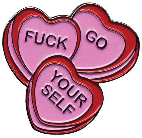 Candy Hearts Enamel Pin by Sourpuss (MP63)