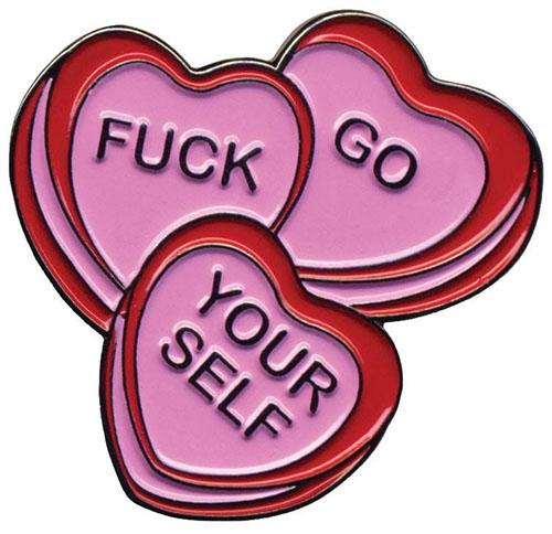 Candy Hearts Enamel Pin by Sourpuss (MP63)