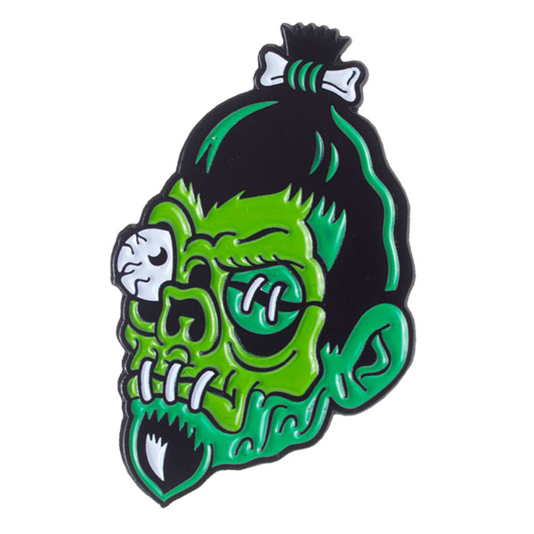 Dumb Junk Shrunken Head Enamel Pin by Sourpuss (MP87)
