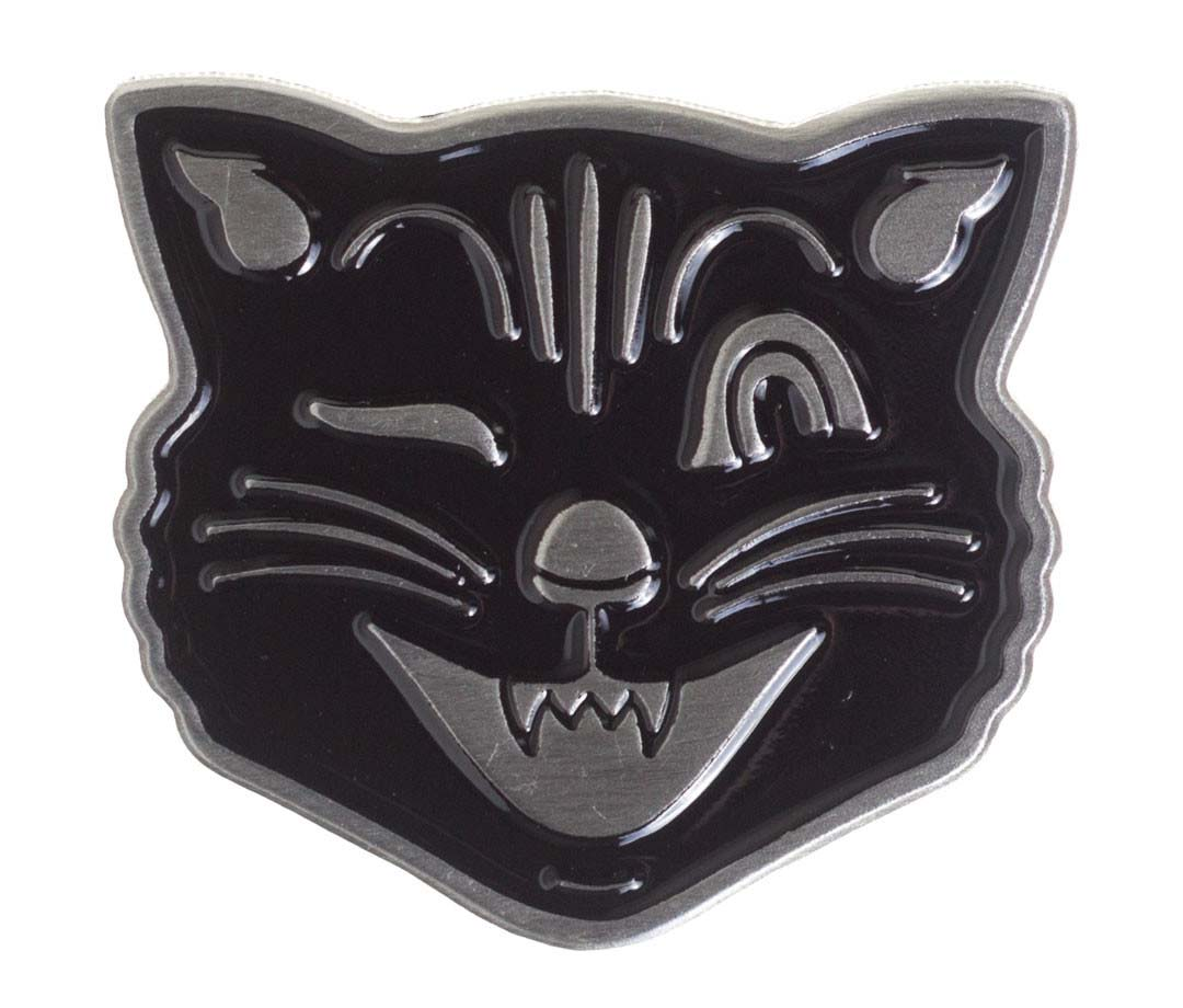 Vintage Jinx Halloween Lucy Fur Cat Face Pin by Sourpuss (MP173)