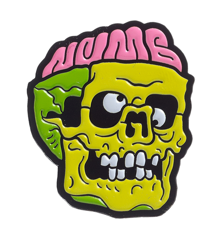 Dumb Junk Numb Skull Enamel Pin by Sourpuss (MP181)